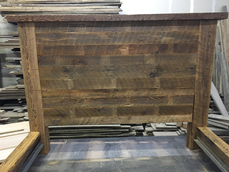 Headboard for the reclaimed wood beam bed frame